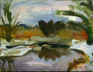"""Vyacheslav Agalakov - """"The First snow"""", 2003."""