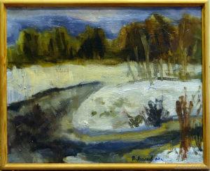 "Vyacheslav Agalakov - ""The winter begins"", 2003."