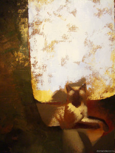 "Irina Agalakova - ""Thai cat"". Oil on canvas 2005."