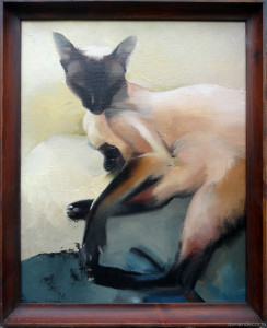"Irina Agalakova - ""Thai cat"". Oil on canvas 2014."