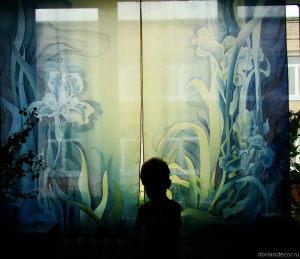"Irina Agalakova - ""fleur-de-lis"". Made-to-measure bedroom curtain."