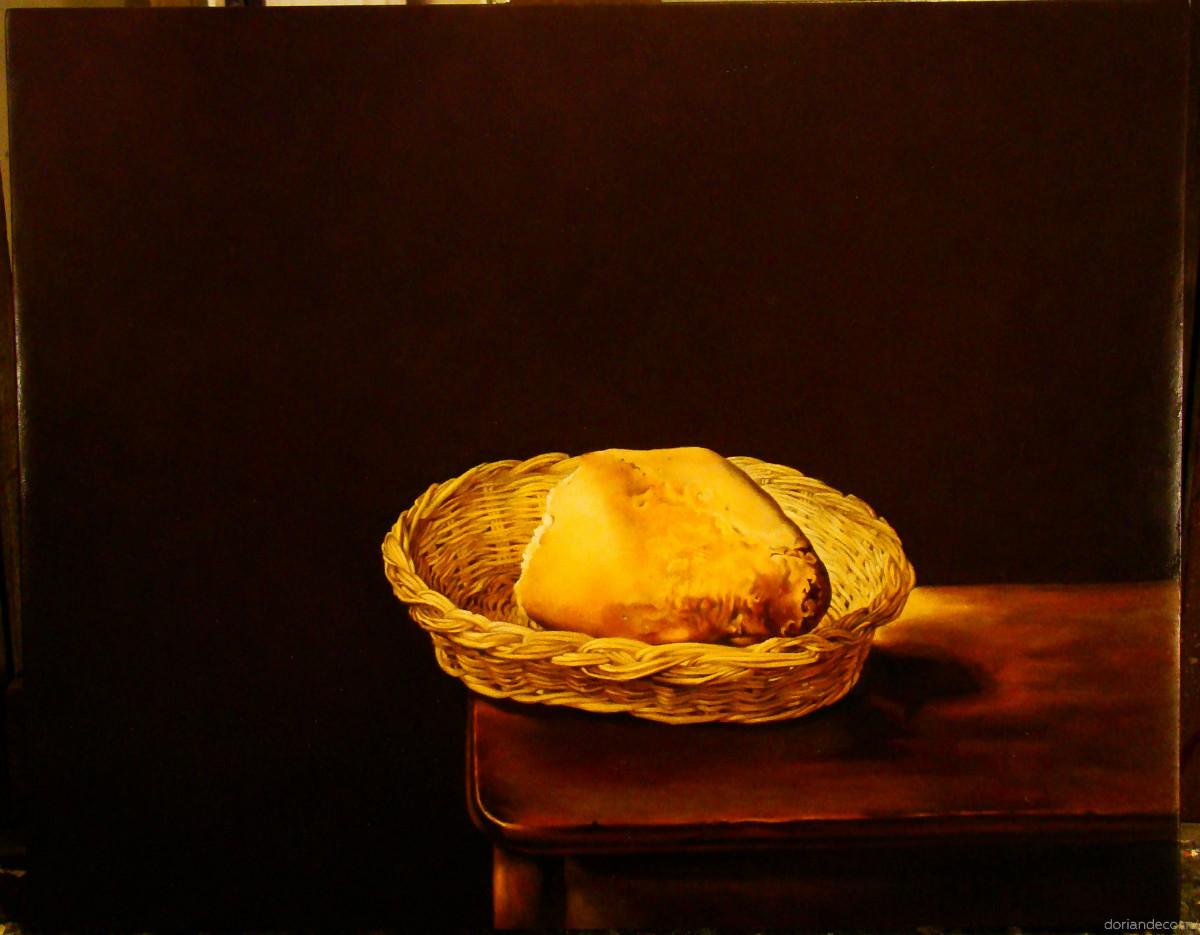 Ирина Агалакова — копия с картины Сальвадора Дали «Корзинка с хлебом».