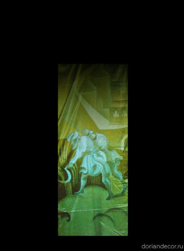 Ирина Агалакова - холодный батик, натуральный шелк. (Декоративный фрагмент).