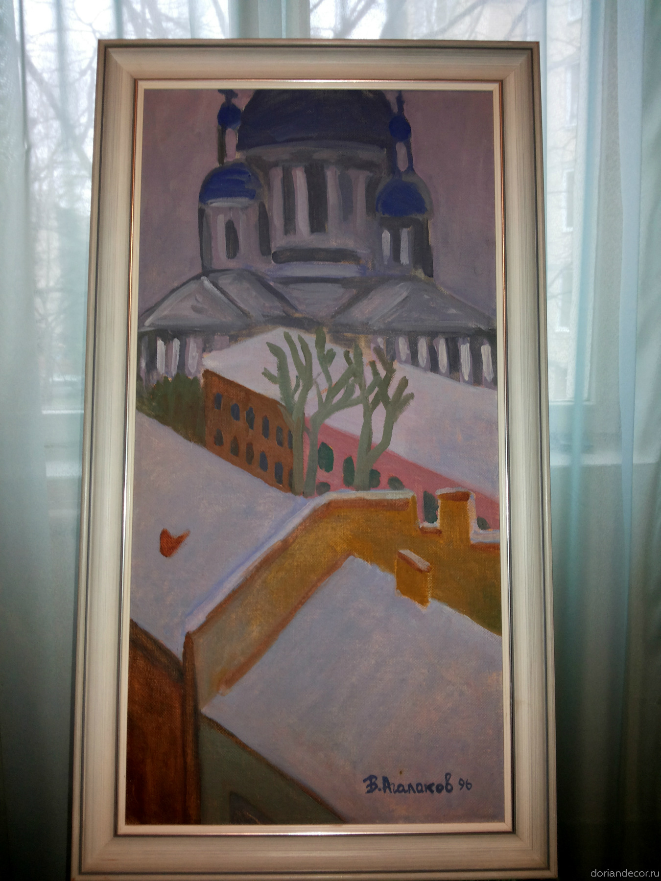 Вячеслав Агалаков — «Вид с крыш» (1996 г.). 40 х 80 см.
