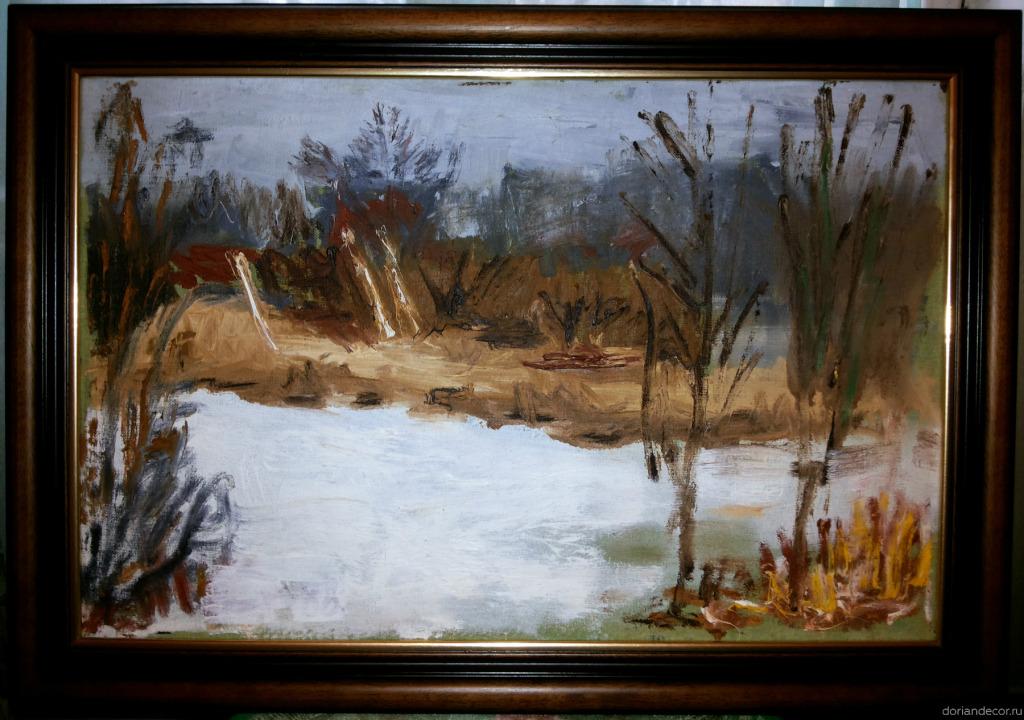 Вячеслав Агалаков — «Река» (1988 г.). 58 х 38 см.