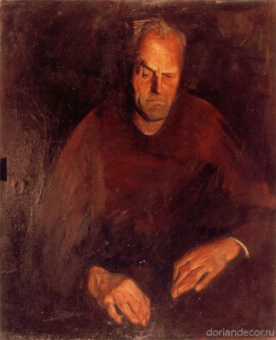 """Виктор Головий - """"Портрет отца"""", 1983. 100x70 см. Холст, масло. Собственность автора."""