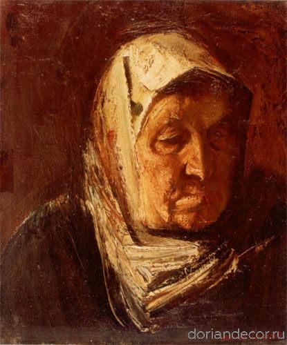 "Виктор Головий - ""Бабушка Аня"", 1984. 45x55 см. Холст, масло. Собственность автора."