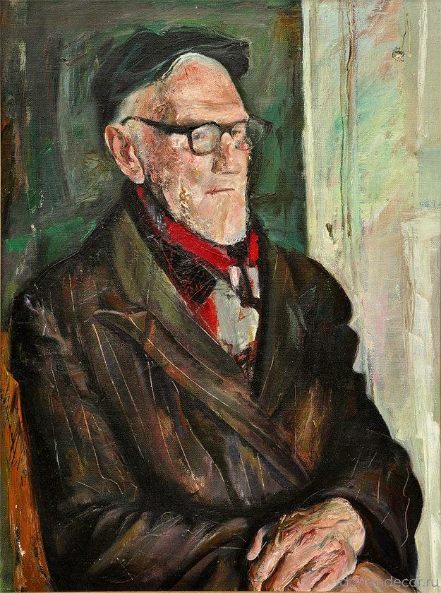 """Виктор Головий - """"Дед Фёдор"""", 1997. 80x60 см. Холст, масло. Коллекция автора."""