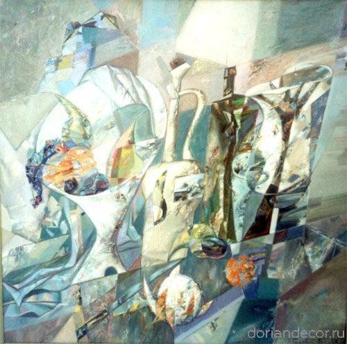 """Виктор Головий - """"Критский натюрморт"""", 2003. 80x60 см. Холст, масло. Частное собрание. Россия."""