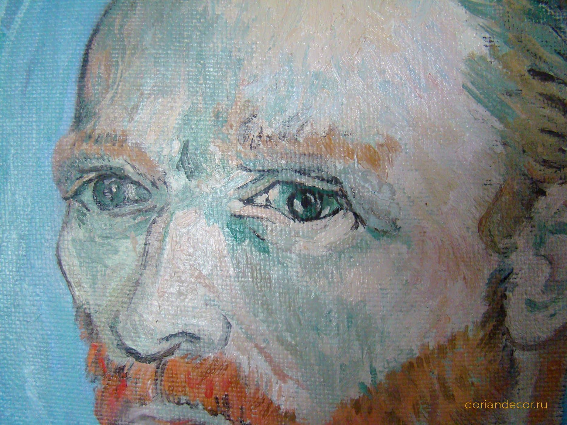 Вячеслав Агалаков - Вольная копия автопортрета Ван Гога (фрагмент)