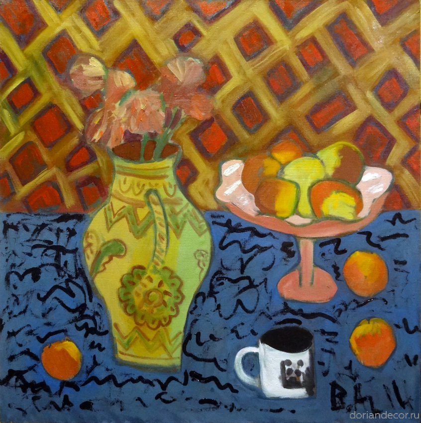 """Вячеслав Агалаков - """"Натюрморт с яблоками"""", 2014 г."""