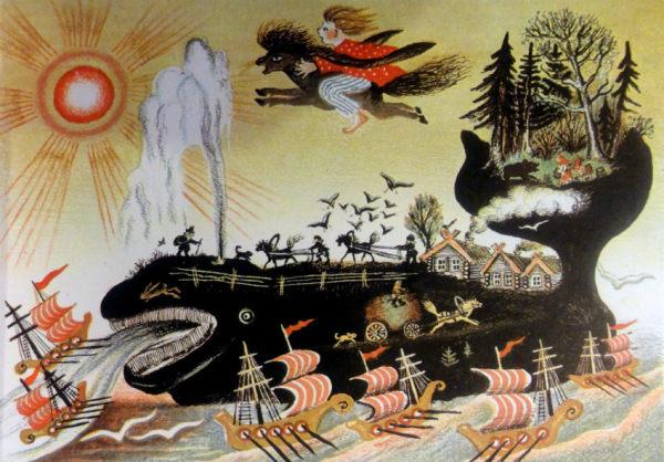 Юрий Васнецов. Иллюстрации к русской сказке. Кит. 1938 г.