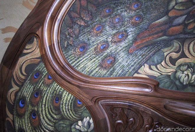 Ирина Агалакова - Декоративное настенное панно. Холст на дереве, смешанная техника.