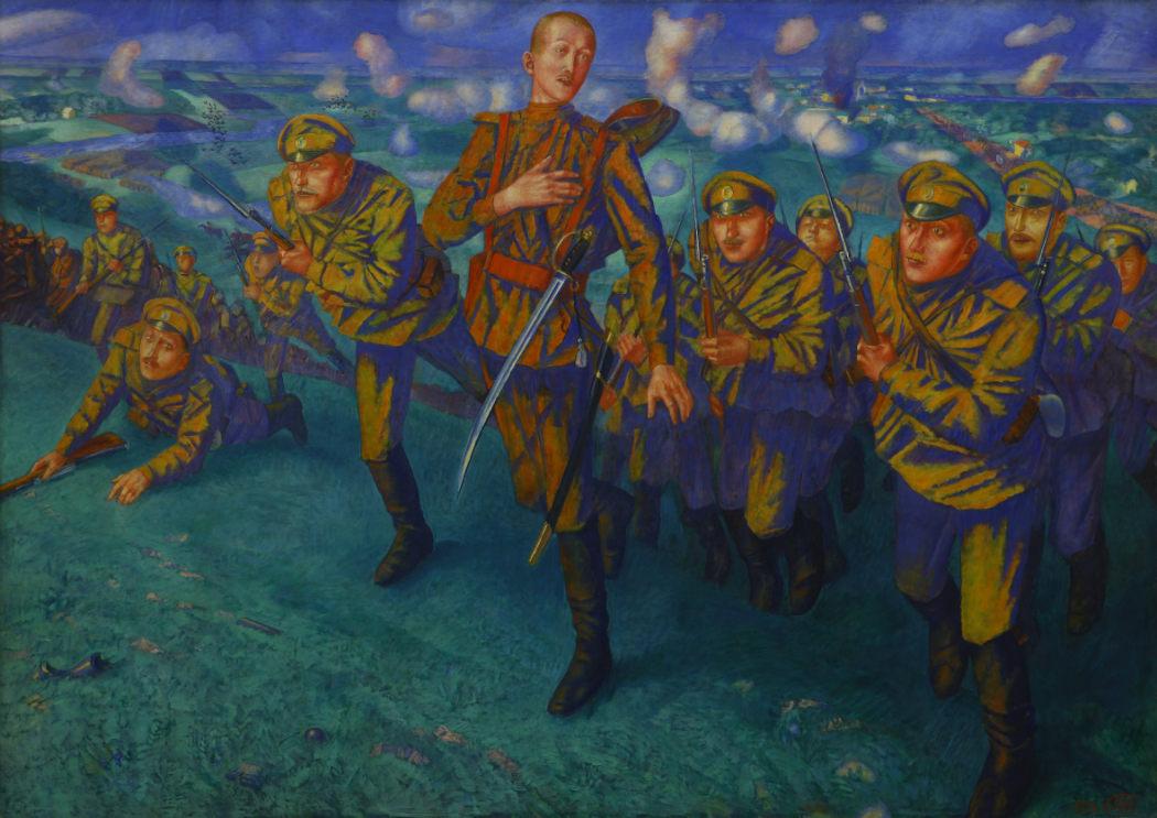 "Кузьма Петров-Водкин - ""На линии огня"", 1916"