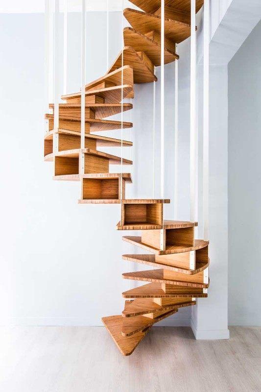 Дизайн лестницы в стиле модерн