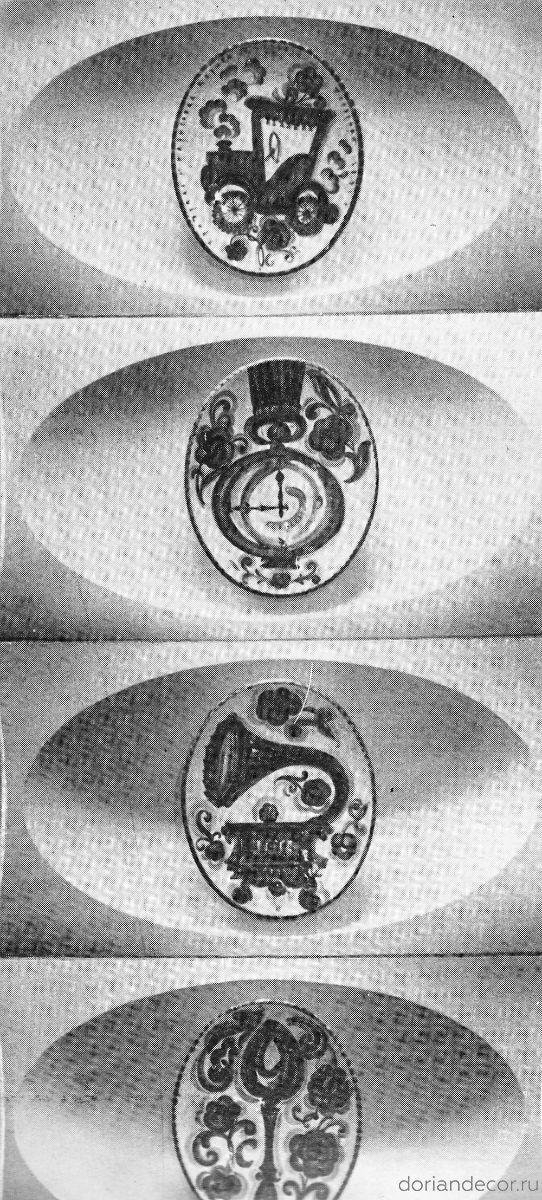 """Фрагмент керамического панно для """"Дома быта"""". К.Петров-Полярный."""