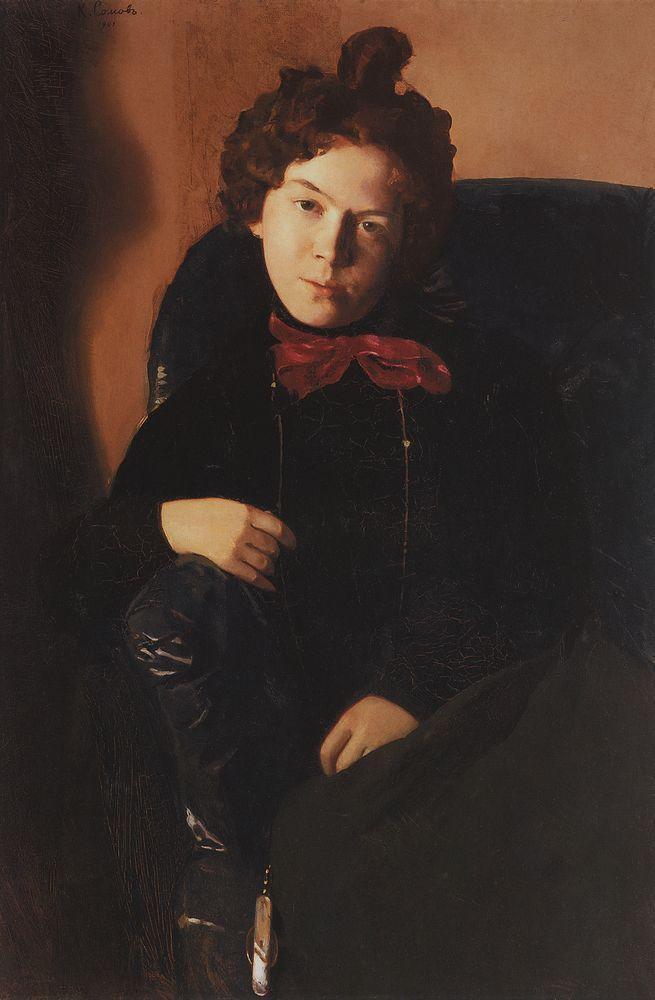 Константин Сомов. Портрет А.П. Остроумовой. 1901 г.