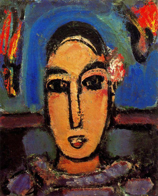 Жорж Руо. Девушка с цветком в волосах