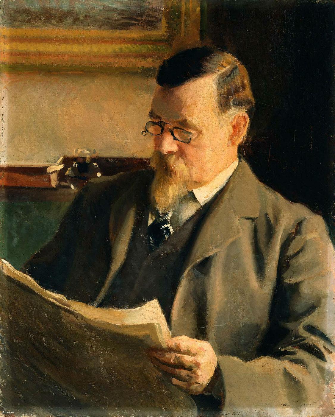 Уильям МакГрегор Пакстон - Портрет отца художника (Джеймса Пакстона), 1902
