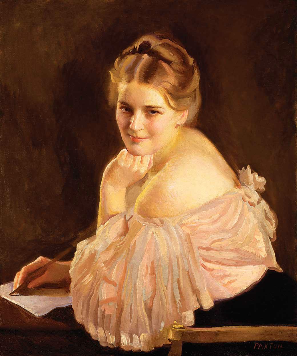 Уильям Пакстон - The Note (Mrs. Ernest Major), 1902