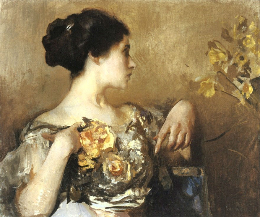 Edmund C. Tarbell - Lady with a corsage