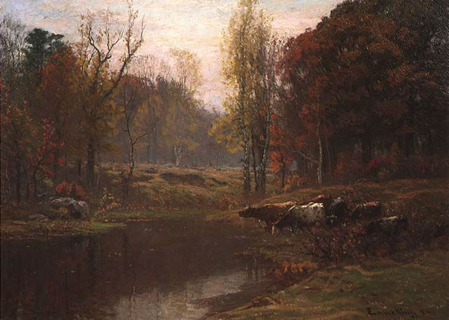 John Joseph Enneking Along_the_Neponset_River