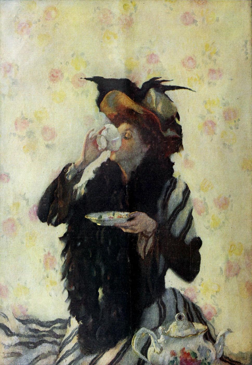Lilian Westcott Hale - A Cup of Tea