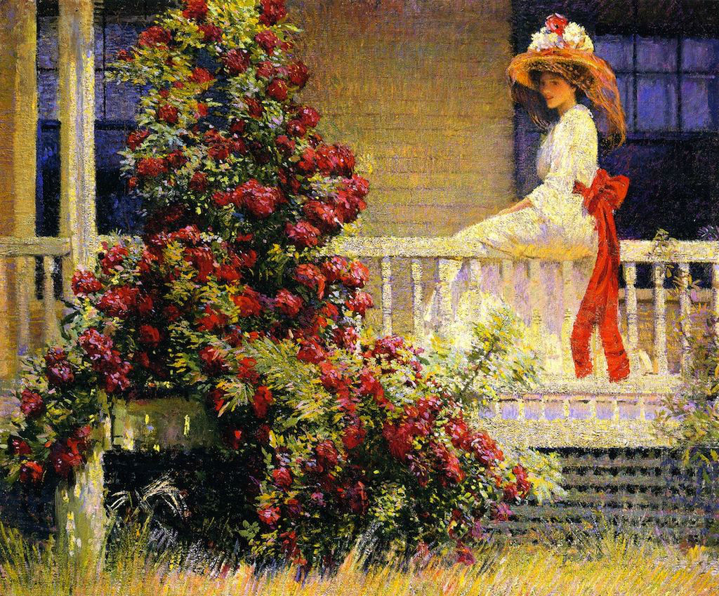 Philip Leslie Hale - Crimson Rambler, 1908
