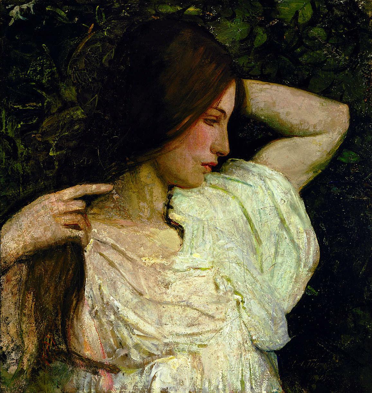 Abbott Handerson Thayer - Girl Arranging Her Hair
