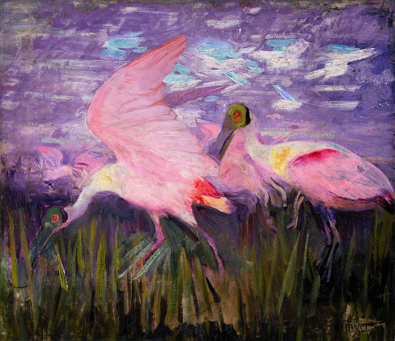Abbott Handerson Thayer - Roseate Spoonbills