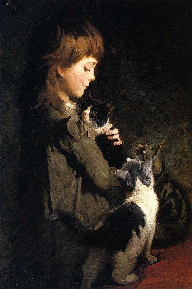 Abbott Handerson Thayer - The Favorite Kitten