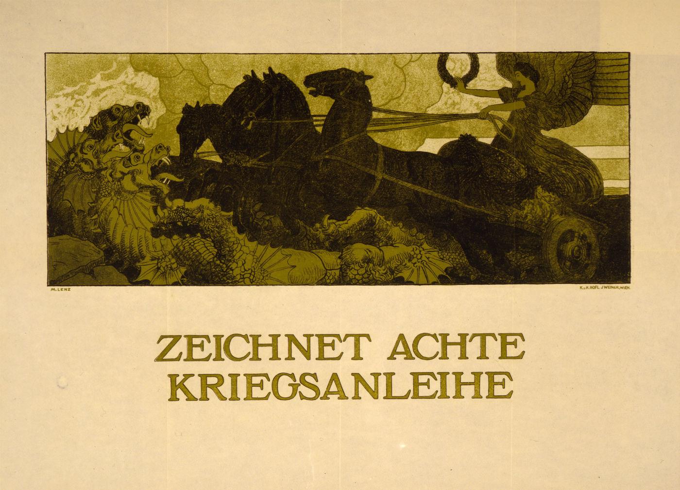 Maximilian Lenz - 1917 - Zeichnet achte Kriegsanleihe