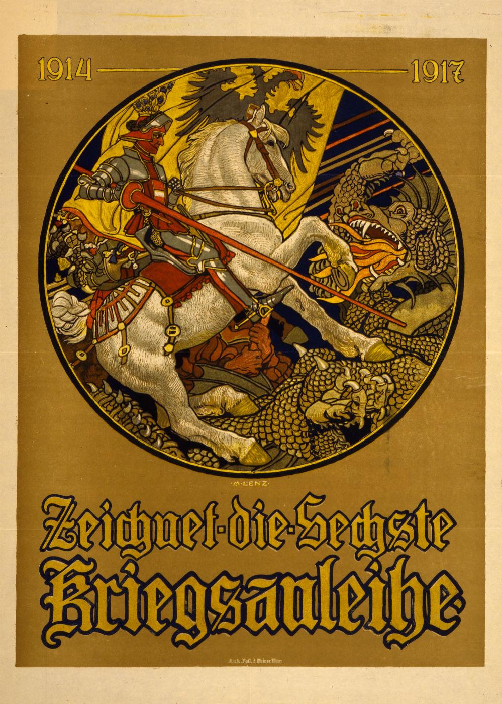 Maximilian Lenz - 1917 - Zeichnet die sechste Kriegsanleihe
