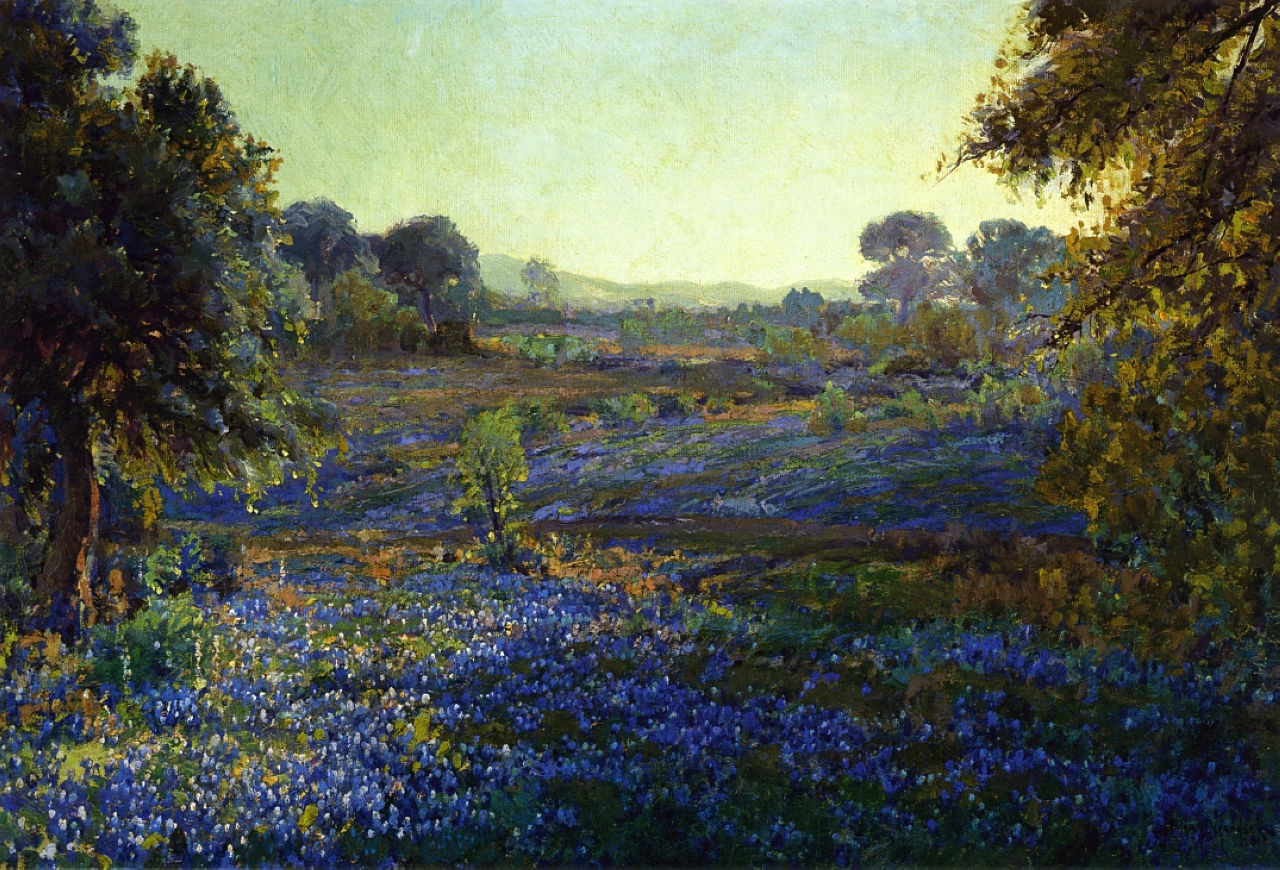 Robert Julian Onderdonk - bluebonnets-at-late-afternoon-near-la-grange-1918