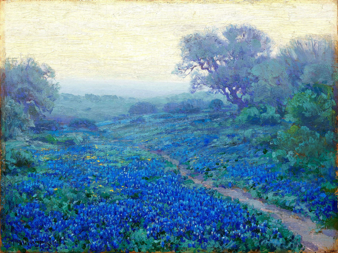 Robert Julian Onderdonk - bluebonnets-at-sunrise-1917