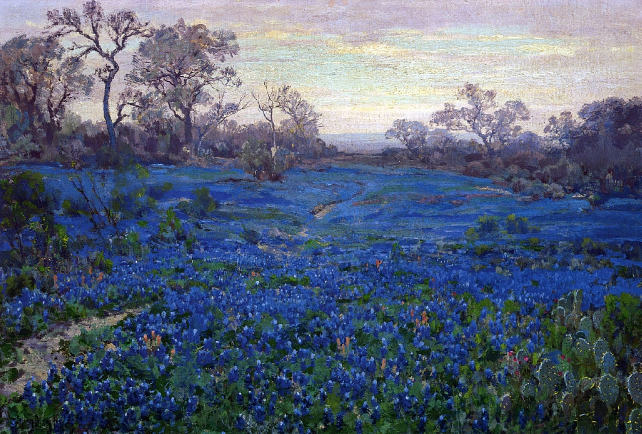 Robert Julian Onderdonk - bluebonnets-at-twilight-near-san-antonio-1920