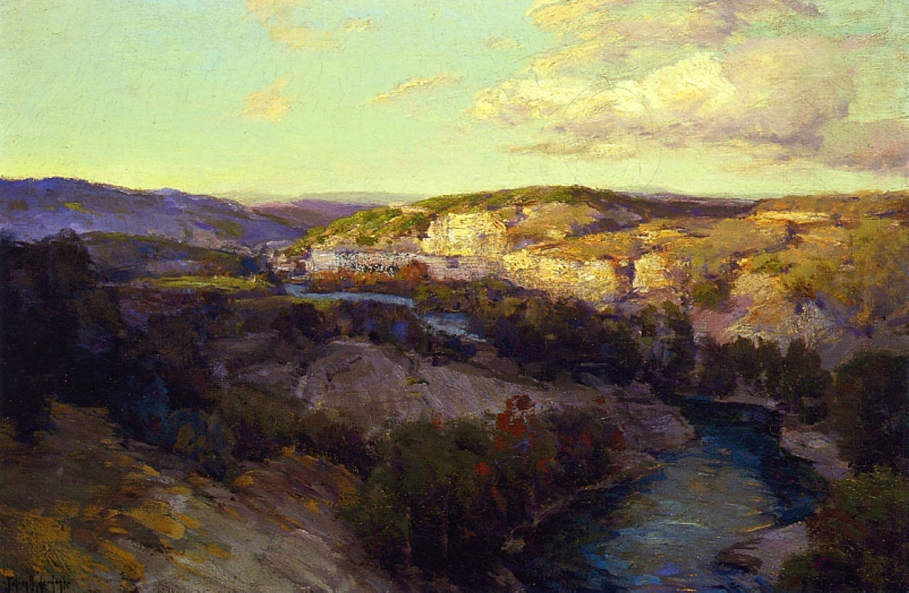 Robert Julian Onderdonk - cliffs-on-the-guadalupe