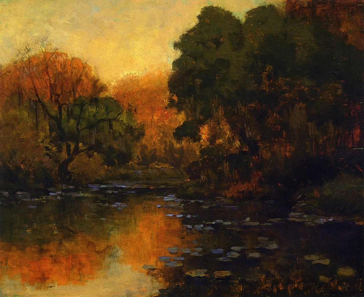 Robert Julian Onderdonk - san-antonio-river-1920