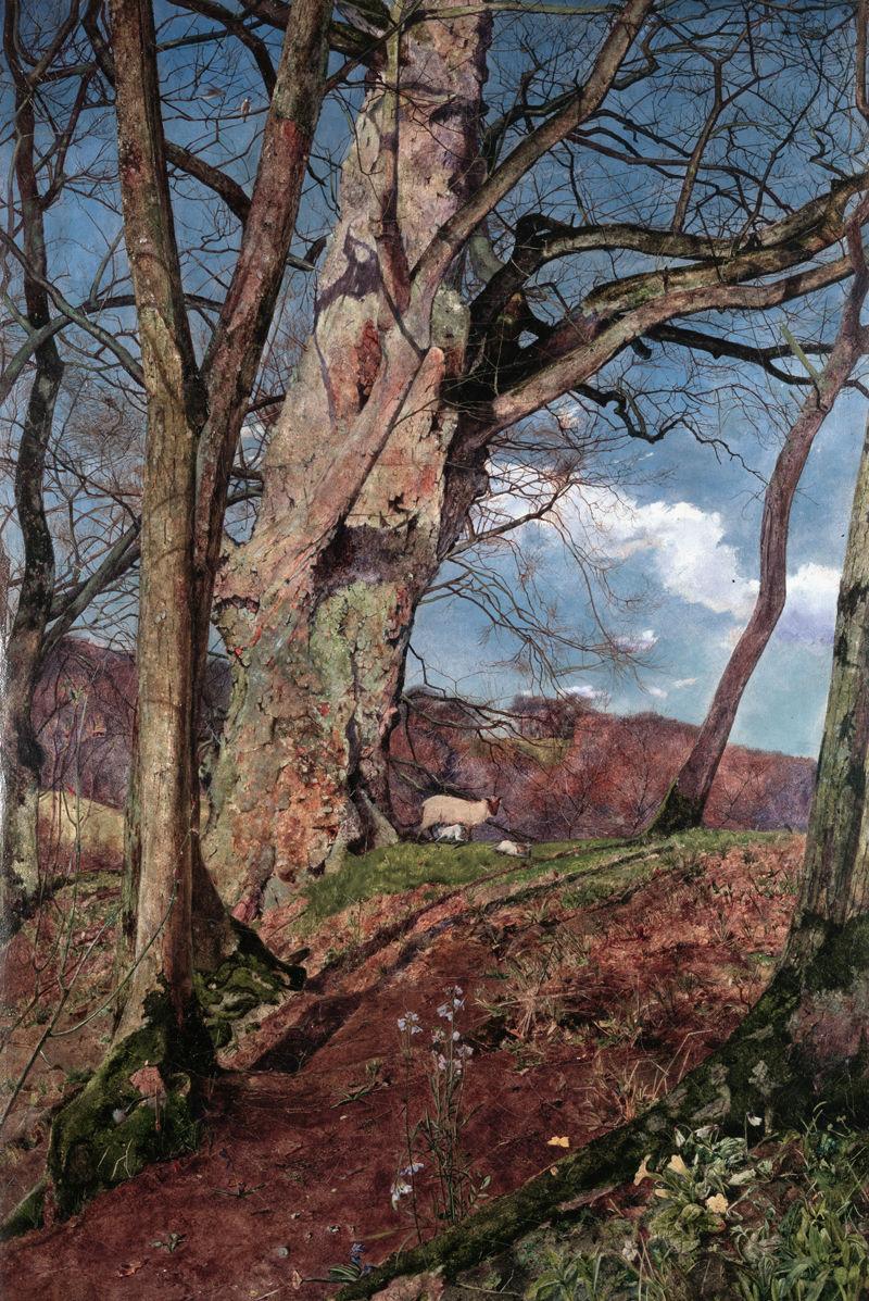 John William Inchbold - A Study in March