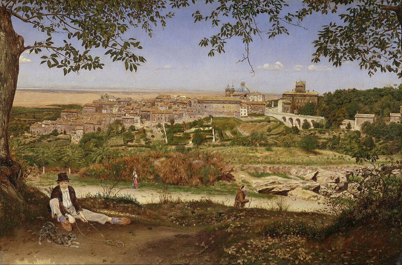 John William Inchbold - Ariccia,_near_Rome,_Italy_-_Google_Art_Project