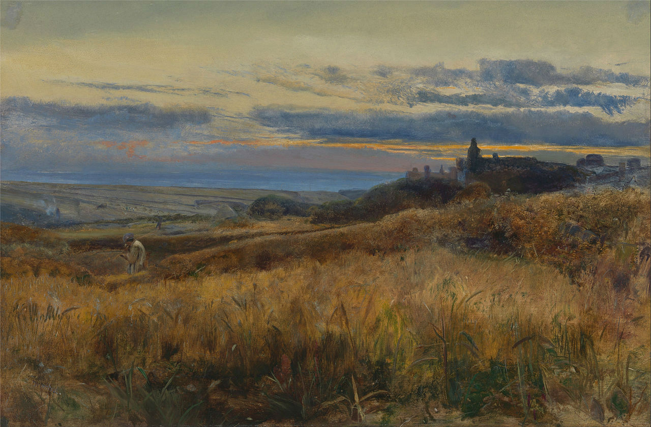 John William Inchbold - Cornfield_at_sunset_-_Google_Art_Project
