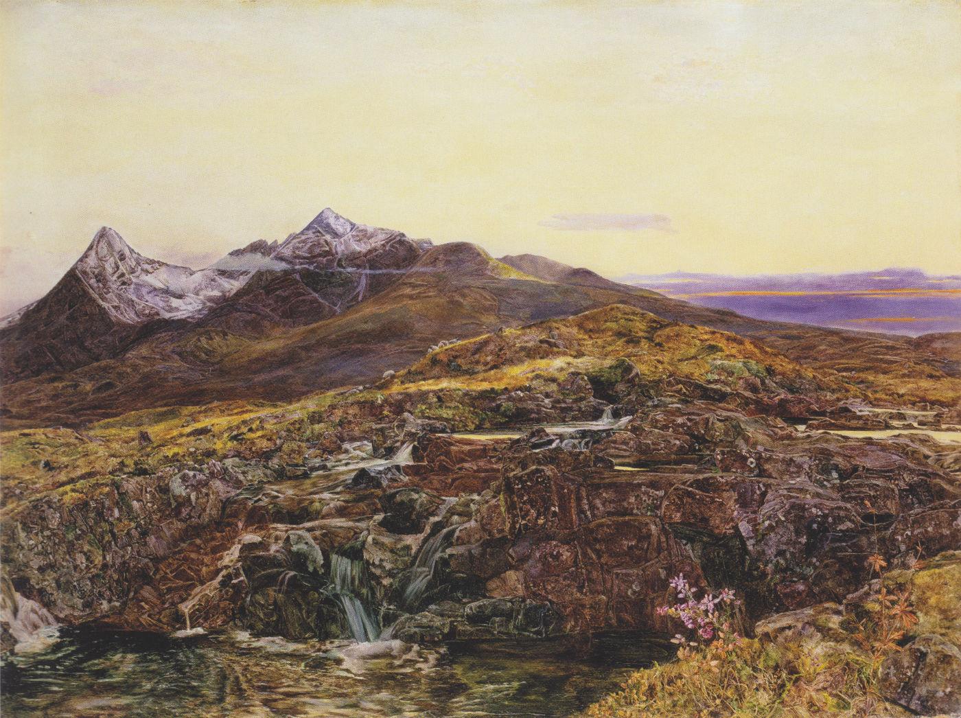 John William Inchbold - The_burn,_November_-_the_Cucullan_Hills